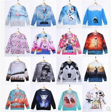 New arrived!Mens Womens 3D Space Galaxy Sweatshirt sweater Pullover Top Jumper