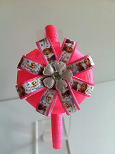 FROZEN ANNA AND ELSA CANDY PINK AND WHITE FLOWER HEADBAND