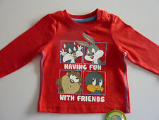 LOONEY TUNES 'Having Fun with Friends' Long Sleeve Top NWT