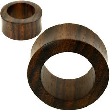 PAIR-SONO Wood Tunnels-HAND CARVED ORGANIC FLESH TUNNELS-EAR GAUGES-EAR PLUGS