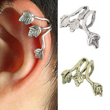 Europe Style Fashion Silver Plated Leaf Leaves Ear Cuff Wrap Earring Hot