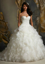 New white ivory Wedding Dress Bridal Gown  size 6 8 10 12 14 16