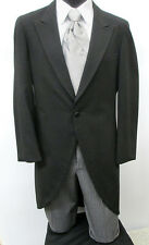 Black Cutaway / Morning Coat With Pants Costume Christmas Victorian Dickens 34S