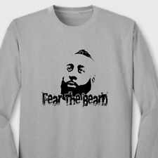 FEAR The BEARD Oklahoma City Thunders T-shirt James Harden Long Sleeve Tee
