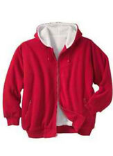 Men's Active Wear Fleece Zip-Up Jacket Sherpa Hood Hoodie Big Size 3XL & 5XL *45