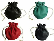 Coin Purse with Drawstring - Red / Black / Blue / Green Pouch