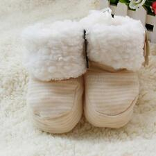 0-12M Toddler Newborn Baby Soft Sole Booties Boots Winter Warm Crib Socks Shoes