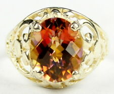 R004, Twilight Fire Topaz, 10KY Gold Ring