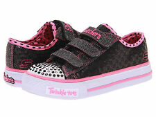 SKECHERS Girls Twinkle Toes Shuffles Sweet Nothings Light-Up Shoes
