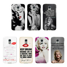 Keep Smiling Marilyn Monroe Hot Lip On Hard Case For Samsung GalaxyS3 S4 S5 Mini