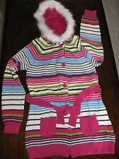girl's sweater by Crazy 8-Gymboree, NWT, sz. 10/12-belt/hood