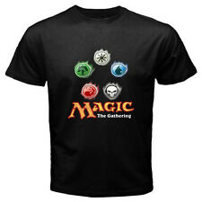 New MAGIC THE GATHERING MTG Logo Tactical Game Men's Black T-Shirt Size S-3XL