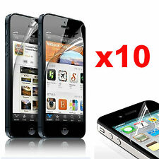 10 X Protective Transparent Screen Protectors Glossy Film for iPhone 4 4s 5 5s