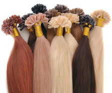 "18"" 20"" 22"" 24"" Pre-Bonded NAIL U-TIP 100% REMY Human Hair Extensions Salon"