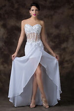 2014 Off Shoulder Long Wedding Bridesmaid Gown Evening Dress Party Prom Dresses