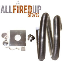 """Multifuel Flexible Flue Liner Installation Kit 4 For Wood Burning Stove 4"""" To 5"""""""