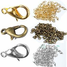 500/1000 X Bulk Lots Bronze Silver Gold Plated Lobster Parrot Clasp Hook Finding