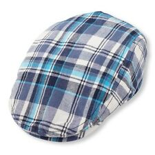 Children's Place Newsboy Cap Hat BLUE WHITE TURQUOISE Plaid 0-6 6-12 12-18 NWT