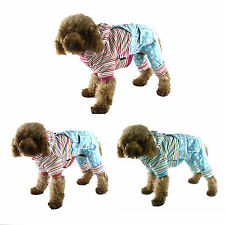 New Petsoo Small Dog Cat Winter Clothes Pet Warm Hoodie Coat Stripes Jumpsuit