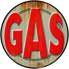 Gas Station Gasoline Weathered Wall Decal Vintage Style Garage Decor