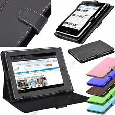 """Universal Leather Stand Folding Case Cover For 7"""" 7 Inch Tab Android Tablet PC"""