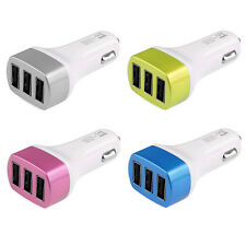 1PC Universal 3 Port USB DC Car Charger Adaptor For iPhone 6 5 5G 5S 4S Cheap