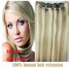 "16"" 80g, 22""100g One Piece 5 Clips clip-in on 100% Remy Human Hair Extensions"