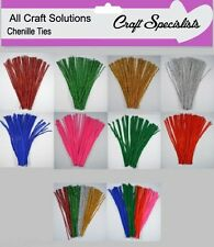 """100 CHENILLE CRAFT STEMS / ARTS & CRAFTS / PIPE CLEANERS / 30cm / 12"""""""