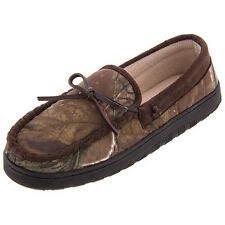 Northern Trail Slippers Mens Realtree Camoflauge Camo Moccasin Slip-on Hard Sole