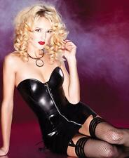 Wet Look Lace Up Dress - Coquette D9258