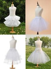 4 Style White Kids Petticoat Children Formal Bridal Dress Underskirts 1,2,3 Hoop