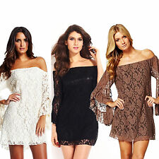 HOT Women Sexy Lace Bodycon Slim Mini Dress Cocktail Club Party Evening Dress