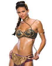 Star Wars Princess Leia Slave Cosplay Womens Sexy Halloween Costume Set XS-L