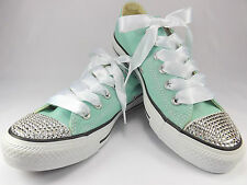 New Mint Converse All Star Crystals sizes UK  3 4 5 6 7 8 EU 36 37 38 39 40 41,