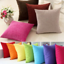 Candy Color Warm Design Soft Micro Suede Home Pillow Case Cushion Cover Ideal