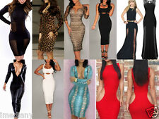 Sexy Women Vintage Bodycon Pencil Cocktail Party Work Sleeveless Classic Dress