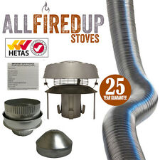 "Flexible Flue Liner Installation Kit 10 Multifuel Wood Burning Stove 5"" To 6"""