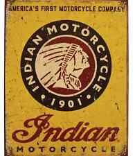 NEW GENUINE INDIAN MOTORCYCLE 1901 METAL SIGN CHIEF VINTAGE MADE IN AMERICA