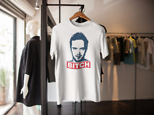 BREAKING BAD JESSE PINKMAN BITCH T-SHIRT LOS POLLOS HERMANOS HEISENBERG WHITE