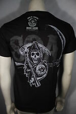 SONS OF ANARCHY SOA REAPER CREW 2 SIDED SKULL BONES BIKER CLUB T TEE SHIRT S-3XL