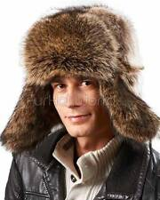 Raccoon Full Fur Russian Hat -Brand: FRR -Made in Canada