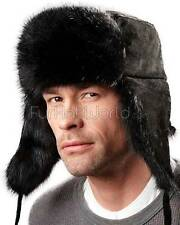 The Black Muskrat Russian Trooper Hat -Brand: FRR -Made in Canada