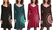 WOMAN DRESS DESIGUAL MARTITA 47V2049 BELTED NEW COLLECTION 2015