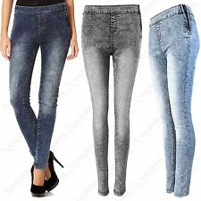 LADIES HIGH WAISTED ZIP SIDE TUBE DISCO JEANS WOMENS STRETCH DENIM SKINNY FIT