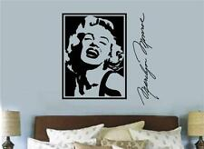 Marilyn Monroe Picture Vinyl Decal Wall Decor Stickers Lettering Bedroom Decor