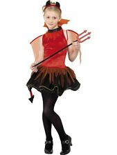SALE! Kids Teen Red Devil Girls Halloween Party Fancy Dress Costume Outfit