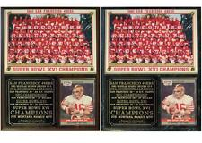 San Francisco 49ers 1981 Super Bowl XVI Champions Photo Card Plaque