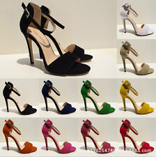 New Girls High Heels Stiletto Open Toe Ankle Strap Wedges Platform Sexy Sandals