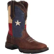"""Durango RD3446 Women's Lady Rebel 10"""" Texas Flag Pull-On Brown Western Boots"""