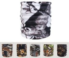Polar Fleece Neck Warmer Gaiter Thermal Snood Unisex Scarf Camo Hunting Fishing